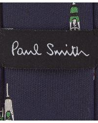 Paul Smith - Blue Navy Cyclist Silk Tie for Men - Lyst