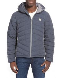 Bench | Blue 'homage' Quilted Jacket for Men | Lyst