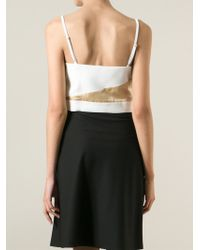 Violante Nessi - White Panelled Cropped Top - Lyst
