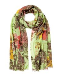 Etro | Green Paisley Print Scarf | Lyst