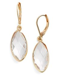 Anne Klein - Metallic Crystal Drop Earrings - Lyst