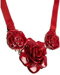 Cath Kidston | Red Rose Necklace | Lyst