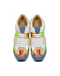 MM6 by Maison Martin Margiela - Multicolor Mixed Material Sneaker - Lyst