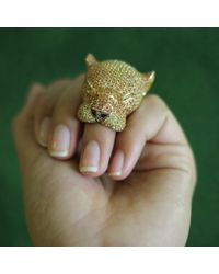 Wendy Yue | Metallic Panther Ring | Lyst