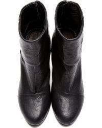 Rag & Bone - Black Leather Classic Newbury Ankle Boots - Lyst