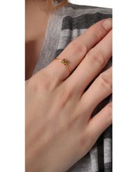 Jacquie Aiche - Metallic Ja Alphabet Letter Initial Waif Ring - P - Lyst