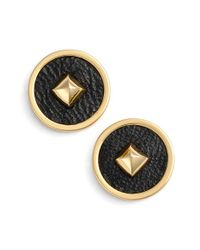Rachel Zoe | Metallic 'prestley Pyramid' Stud Earrings | Lyst
