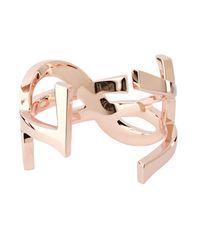 Saint Laurent - Pink Monogram Cuff - Lyst