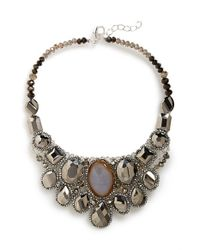 Panacea | Metallic Crystal Statement Necklace | Lyst