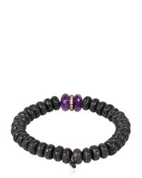 Ocnarf Sairutsa - Metallic Rock And Raw Bracelet - Lyst