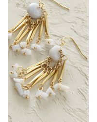 Anthropologie | Metallic Lace Agate Fringe Earrings | Lyst