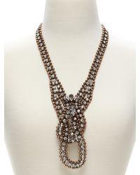 Banana Republic   Metallic Deco Chain Necklace   Lyst
