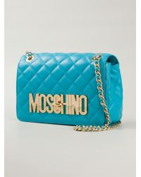 Moschino - Blue Quilted Shoulder Bag - Lyst
