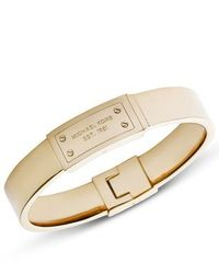 Michael Kors | Metallic Heritage Gold Plaque Hinge Bangle | Lyst