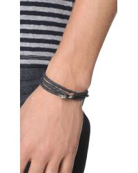 Miansai - Metallic Sterling Silver Ipsum Wrap Bracelet for Men - Lyst