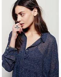 Free People - Blue Fp X Womens Fp X Wayward Sheer Shirtdress - Lyst