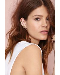 Nasty Gal | Metallic Take The Bait Ear Cuff Set | Lyst