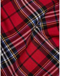 ASOS | Red Pocket Square In Tartan Print for Men | Lyst