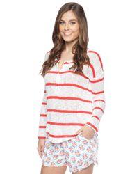 Splendid - Natural Salina Stripe Henley - Lyst