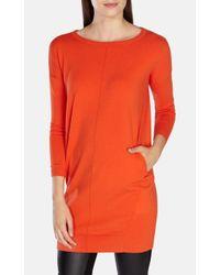 Karen Millen - Orange Knitted Dress With Pockets - Lyst