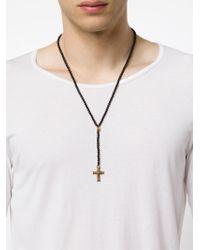 Roman Paul - Black Crucifix Pendant Necklace for Men - Lyst
