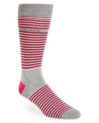 Ted Baker | Gray Stripe Socks for Men | Lyst