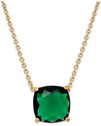 kate spade new york | Metallic Gold-Tone Mini Stone Pendant Necklace | Lyst