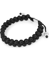 Nialaya | Black Double Matte Onyx Beaded Bracelet | Lyst