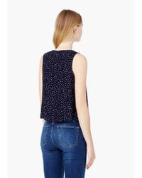 Mango | Blue Flowy Printed Top | Lyst