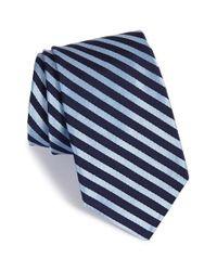 Ike Behar - Blue 'party Stripe' Silk Tie for Men - Lyst