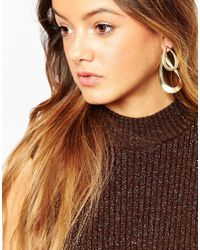 ASOS - Black Twisted Oversize Occasion Swing Earrings - Lyst