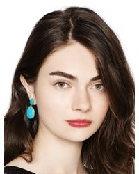 kate spade new york - Blue Pave The Way Statement Earrings - Lyst