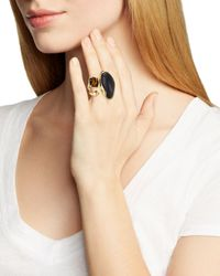 Alexis Bittar | Black Lucite Liquid Bezel Pyramid Cocktail Ring | Lyst