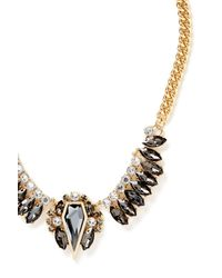 Rebecca Minkoff | Metallic Clustered Stones Statement Necklace | Lyst