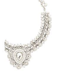 Forever 21 | Metallic Rhinestone Statement Necklace | Lyst