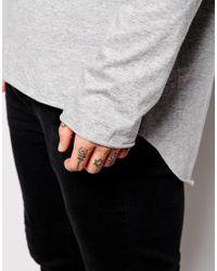 ASOS - Gray Super Longline Skater Long Sleeve T-shirt With Pleated Back for Men - Lyst