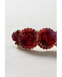 Anthropologie - Red Bermuda Rose Bracelet - Lyst