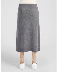 JOSEPH - Gray Soft Wool Knot Skirt - Lyst