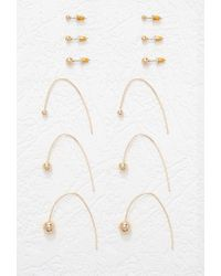 Forever 21 | Metallic Ball Threader And Stud Set | Lyst