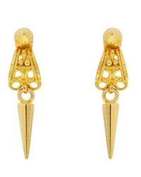 Noir Jewelry | Metallic Satira Drop Earrings | Lyst