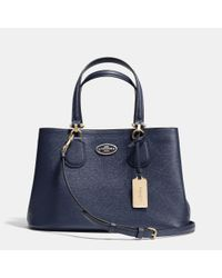 COACH | Blue Small Kitt Carryall In Crossgrain Leather | Lyst