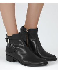 Reiss | Black Buckley Leather Chelsea Boots | Lyst