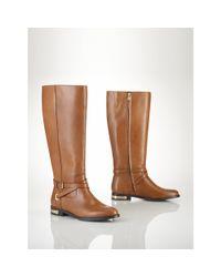 Lauren by Ralph Lauren - Brown Leather Jakayla Boot - Lyst