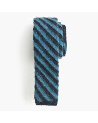 J.Crew | Blue Italian Knit Wool Tie In Stripe for Men | Lyst