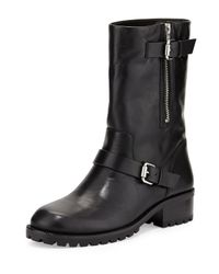 Vc Signature - Black Riona Leather Moto Boot - Lyst