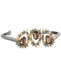 Alexis Bittar - Multicolor Swarovski Crystal Accented Semiprecious Multistone Bangle Bracelet - Lyst