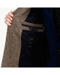 J.Crew | Brown Ludlow Topcoat In Herringbone English Wool for Men | Lyst