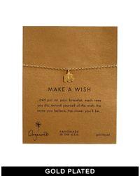 Dogeared - Metallic Gold Plated Make A Wish Elephant Bracelet - Lyst