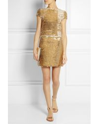 Maje - Metallic Elisee Sequined Mini Dress - Lyst