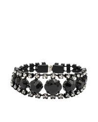 Helene Zubeldia | Black Two-toned Crystal Bracelet | Lyst